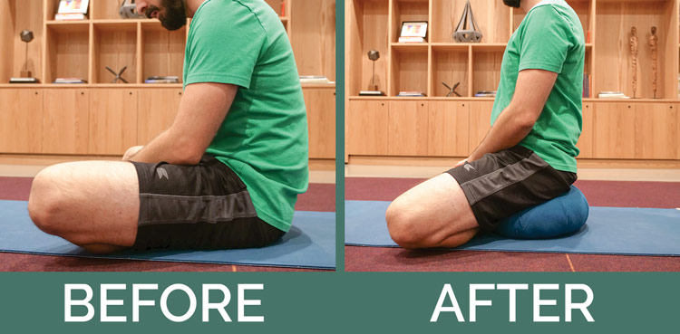 meditation cushion posture