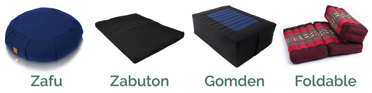 types of meditation cushions