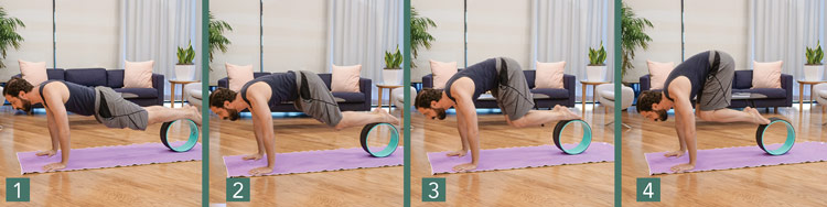 yoga wheel core exercises