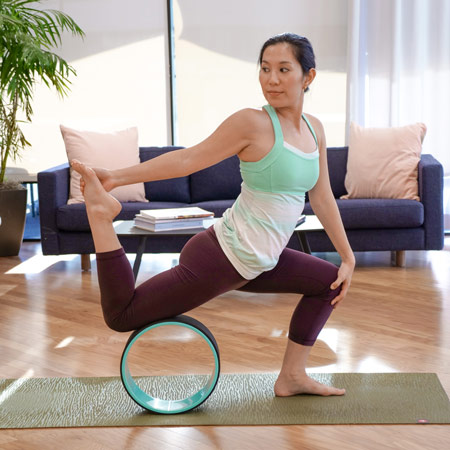 yoga wheel hip opener